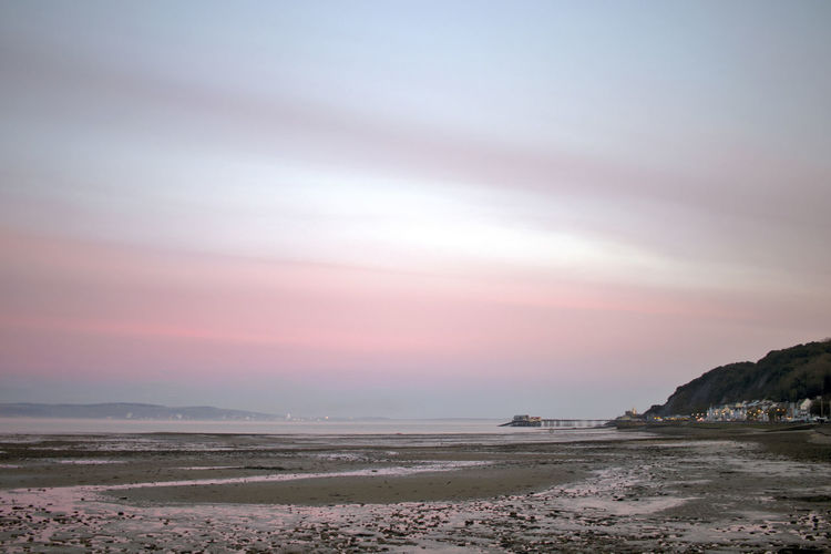 Sky Beauty In Nature Scenics - Nature Water Tranquil Scene Tranquility Sea Beach Cloud - Sky Sunset Land No People Nature Non-urban Scene Idyllic Outdoors Day Remote Environment Mumbles