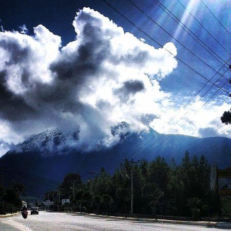 Bizim Evin Oralar Hisar önü snow mountain clouds road sunshine fethiye hersabah bumanzaraya uyanmak 30olucam