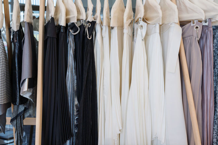 Clothing on the rack
