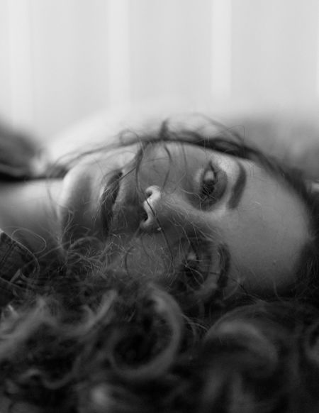 Beautiful Hair Portrait Of A Woman Woman Beautiful Woman Beauty Blackandwhite Close-up Human Eye Lying Down Portrait Photography Portraits Of EyeEm Real People Relaxation Young Adult The Portraitist - 2018 EyeEm Awards