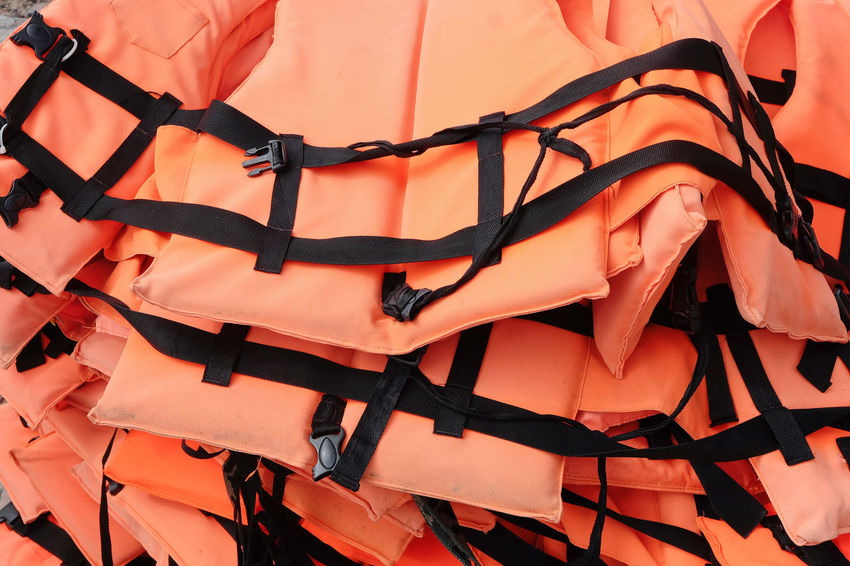 Life vest background Safety First! Boat Close-up Day Hanging Life Vest No People Outdoors Safe Safety Safety Equipment Saftyfirst Sea