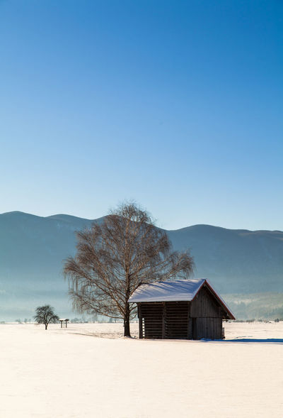 Shades Of Winter Slovenia Slovenia Scapes Architecture Beauty In Nature Blue Built Structure Clear Sky Day Landscape Mountain Nature No People Outdoors Scenics Sky Tranquility Tree