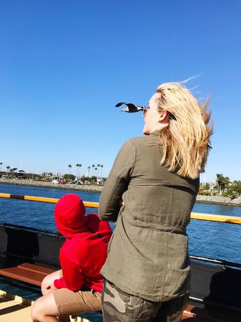 Chance Encounters Seagull Boat Ride San Diego Bay Clear Sky Outdoors People Young Adult Standing Nautical Vessel IPhoneography Leisure Activity Outdoors Photograpghy  Funny Picture