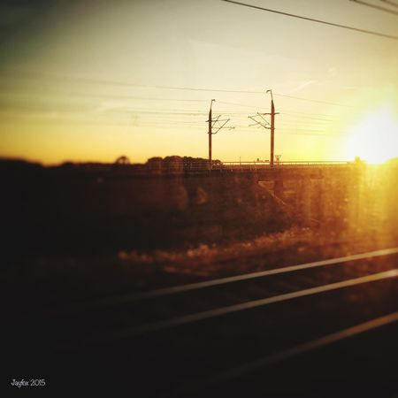 From the train... Sunset IPhoneography