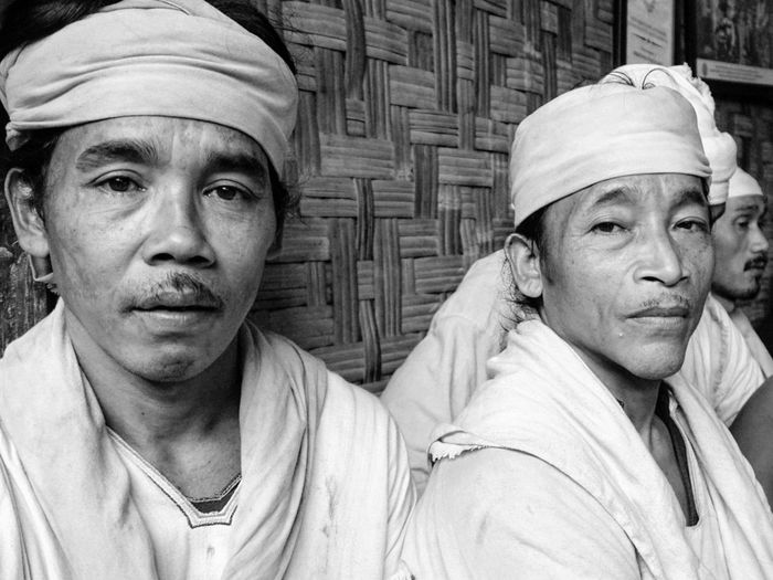 Urang Kanekes (People of Kanekes) or people of Badui tribe in Banten province. These gentlemen are from the Inner Baduy people who choose to live in strict isolation to preserve their life and culture. Baduy Kanekes Isolated Culture Heritage Blackandwhite Headwear Men Portrait Headshot Close-up