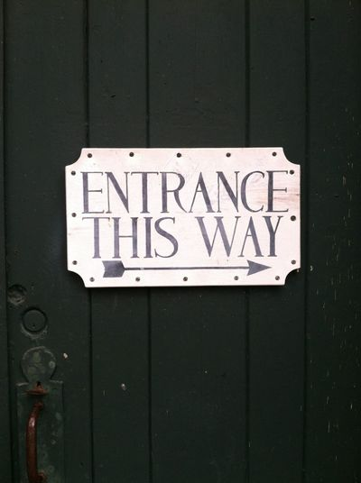 Enter The Void Entrance Sign Close-up Communication Day Ente Entrance Sign No People Outdoors Text Western Script
