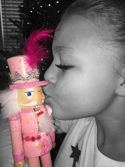 Nutcracker Soldier Girls Girl Pink Blackandwhite Black And White Christmas Time Pink Nutcracker Kisses Kiss Love Holiday Nutcracker Girly Christmas Around The World Christmas Spirit