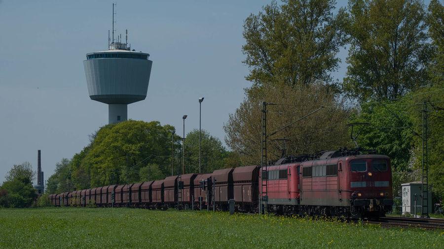151 Doppeltraktion Eisenbahn Erzzug Railway Wasserturm Windrose