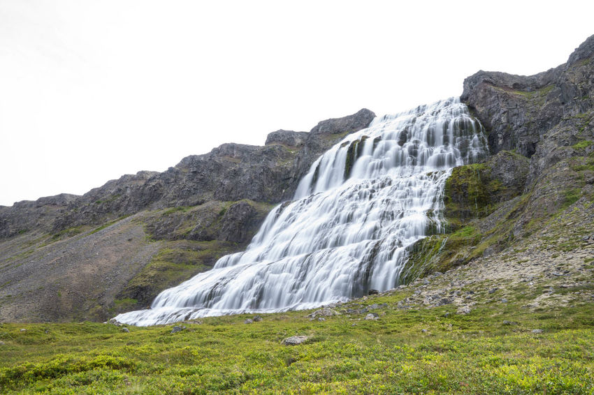 Iceland Iceland Trip Iceland Memories Islanda Nord North Iceland West Fjords West Sky Nature Landscape Beauty In Nature Land Rock Water Scenery Plant Wilderness Scenics - Nature Outdoors Waterfall Formation Mountain Peak Dynjandi