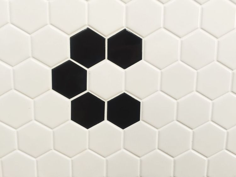 Pattern Hexagon Geometric Shape Backgrounds Grid Full Frame Close-up No People Abstract Repetition Missing Parts Tiles Indoors  Decisions Solution Puzzle  Riddle Day