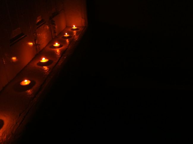 Negative Space Valentine's Day  Our Time Lights Out, Candles Lit No Edit/no Filter
