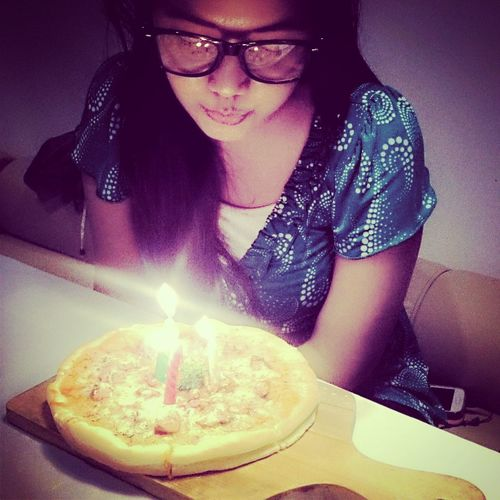 My 24th Birthday last October By Candlelight Blowing Candles Birthday
