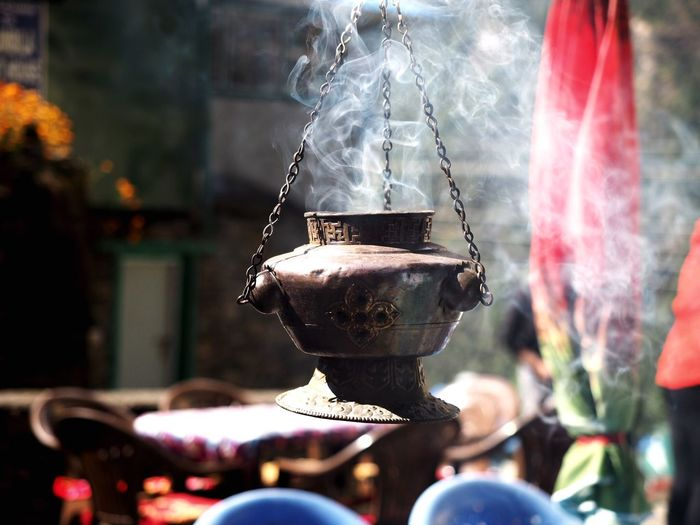 Weihrauch Religious  Nepal Travel Nepal EyeEm Selects Smoke - Physical Structure Focus On Foreground Heat - Temperature Burning Preparation  Food And Drink Steam Close-up Day