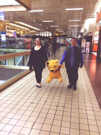 Carrying Winnie The Pooh
