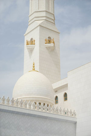 Abu Dhabi Architecture Sheikh Zayed Grand Mosque Travel Built Structure No People