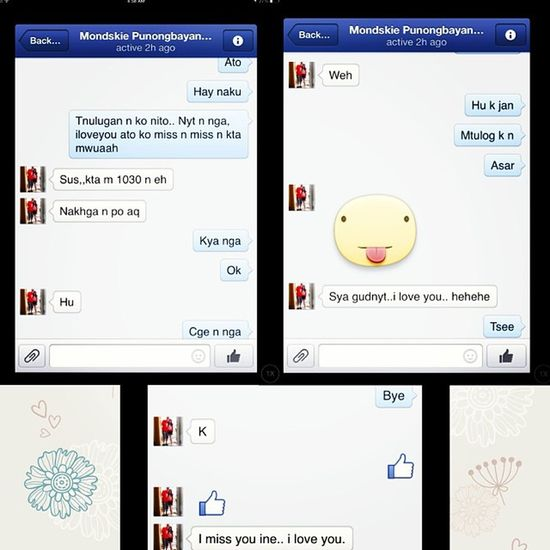 Sweet conversation ?❤️? Ato INE Harot Asar kulit misseachother instapiccollage