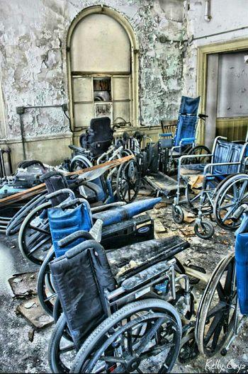 Wheelchair graveyard Abandoned Places Urban Exploration Urbex Abandonedasylum Abandoned Hospital