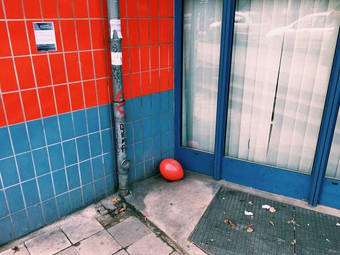 Balloon On Street Outside Store
