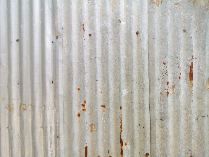 Textured  Backgrounds Full Frame Corrugated Iron Iron Metal Pattern Weathered Rusty Corrugated No People Sheet Metal Old Wall - Building Feature Stained Day Close-up Damaged Built Structure Iron - Metal Dirty Abstract Alloy Steel Silver Colored
