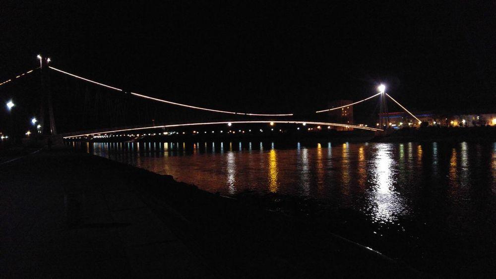 Love this view Osijek Croatia River Bridge Night Lights Reflection Drava River