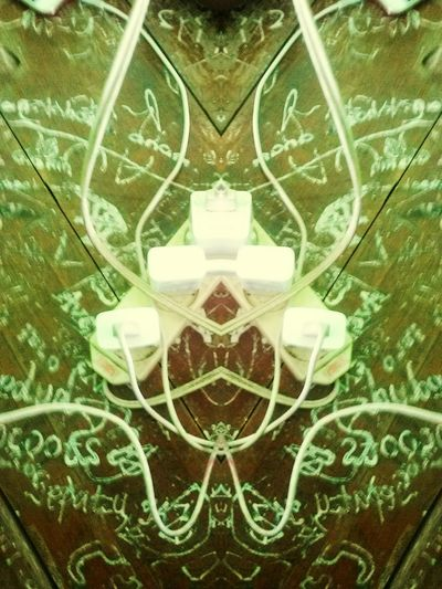 charging is my life Casan UnderSea Backgrounds Symmetry Full Frame Abstract Close-up Green Color Digital Composite