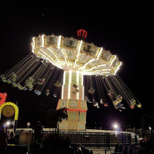 Gröna Lund i Stockholm, Sweden Amusement Park Night Illuminated Amusement Park Ride Carousel Marygoround Joy Ride Nightphotography Luna Park Journey Vacations