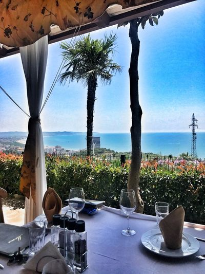 Tree Water Plant Sea Nature Sky Table Horizon Over Water Restaurant Chair No People