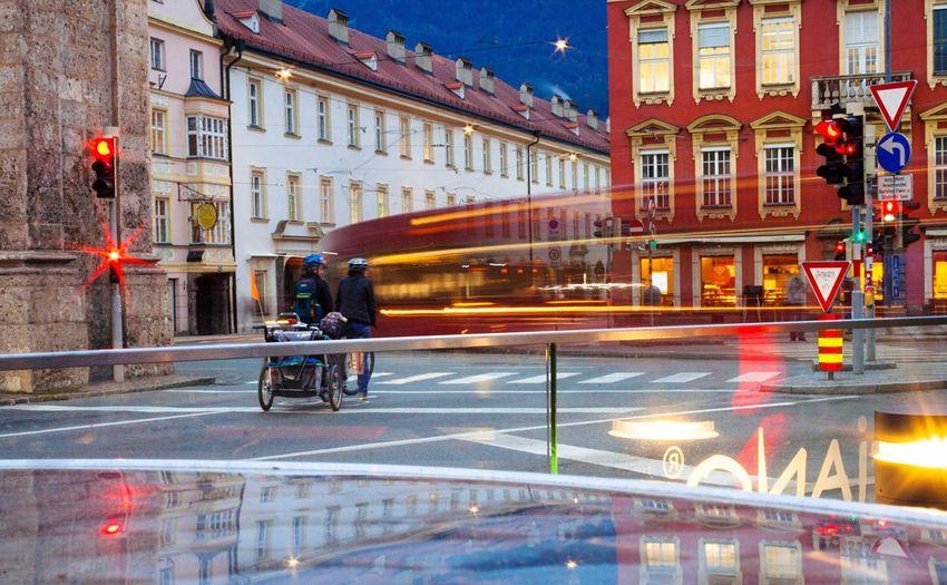 Street City Transportation Motion Full Length City Life Illuminated