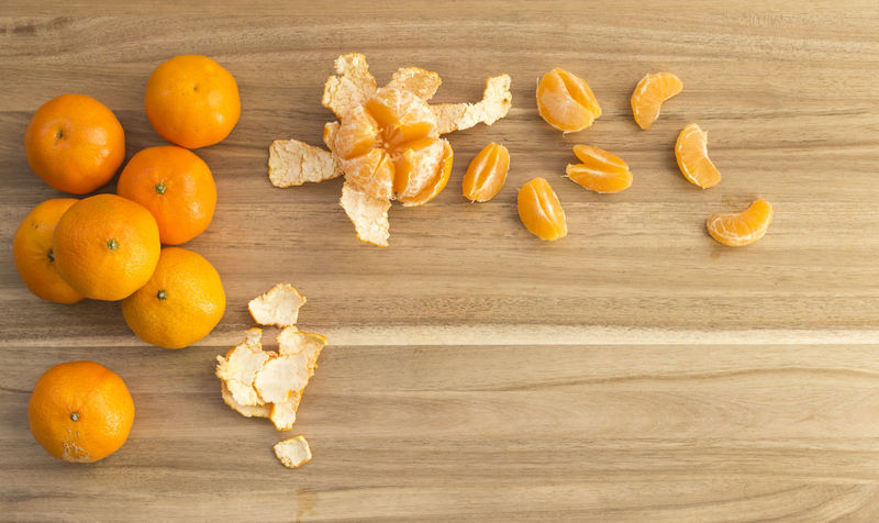 Delicious and juicy orange tangerines on a wooden board. The fruits are whole, peeled and cut Copy Space Freshness Citrus Fruit Close-up Cutting Board Directly Above Food Food And Drink Freshness Fruit Group Of Objects Healthy Eating Healthy Lifestyle High Angle View Indoors  Juicy Kitchen Life No People Orange Color Peeling Preparation  Raw Food Table Tangerine Wood - Material