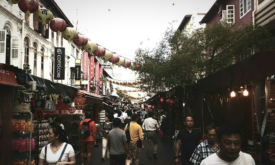 Large Group Of People Day Building Exterior Architecture City Singapore Chinatown Chinatown Singapore Outdoors Sky People
