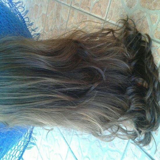 Hair Mine Brown Longo