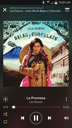 Lapromesa LilaDowns Balasychocolate Prometistequerermeami Amoraprimeranota Arenas