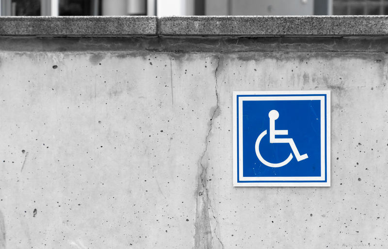 Parkplatz Sign Architecture Blue Close-up Colorkey Communication Day Differing Abilities Human Representation Keycolor No People Outdoors Parking Sign Physical Impairment Rollstuhlfahrer Schild Wheelchair Wheelchair Access Krull&Krull Images Colorkey