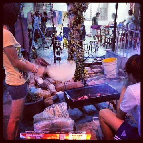 Mummy doing the fanning