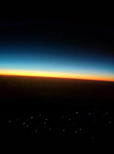 Sunrise 11000m High In A Plane Sunrise Africa