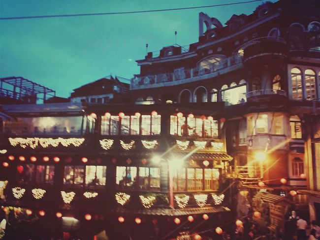 Traveling Nightphotography Night Lights Architecture It was Hardfor me to Find it ;p Went To.. Jiufen, Taiwan.