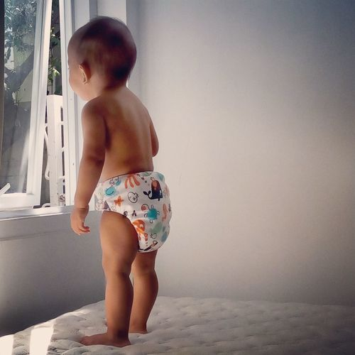 Baby Shirtless Childhood Diaper Cloth Cloth Diapers