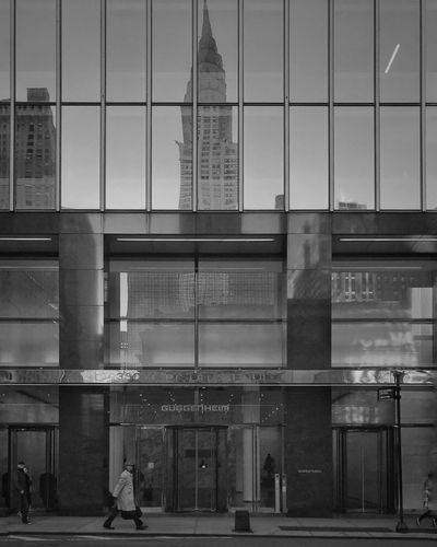 Architecture Building Exterior Built Structure City Outdoors Day Skyscraper Reflection Blackandwhite TheMinimals (less Edit Juxt Photography)