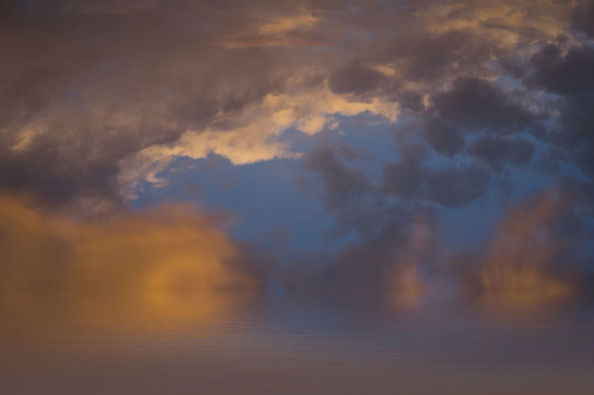 abstract sky over the ocean Beautiful Nature Cloudscape Dramatic Sky Backgrounds Beauty In Nature Clouds Clouds And Sky Cloudscape Dramatic Sky Idyllic No People Ocean Orange Color Power In Nature Scenics - Nature Sea Sky Sunset Tranquil Scene Tranquility Water