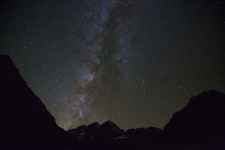 Milky way over maroon bells Astronomy Beauty In Nature Galaxy Maroon Bells Milky Way Mountain Nature Night No People Outdoors Scenics Sky Space Space And Astronomy Star - Space