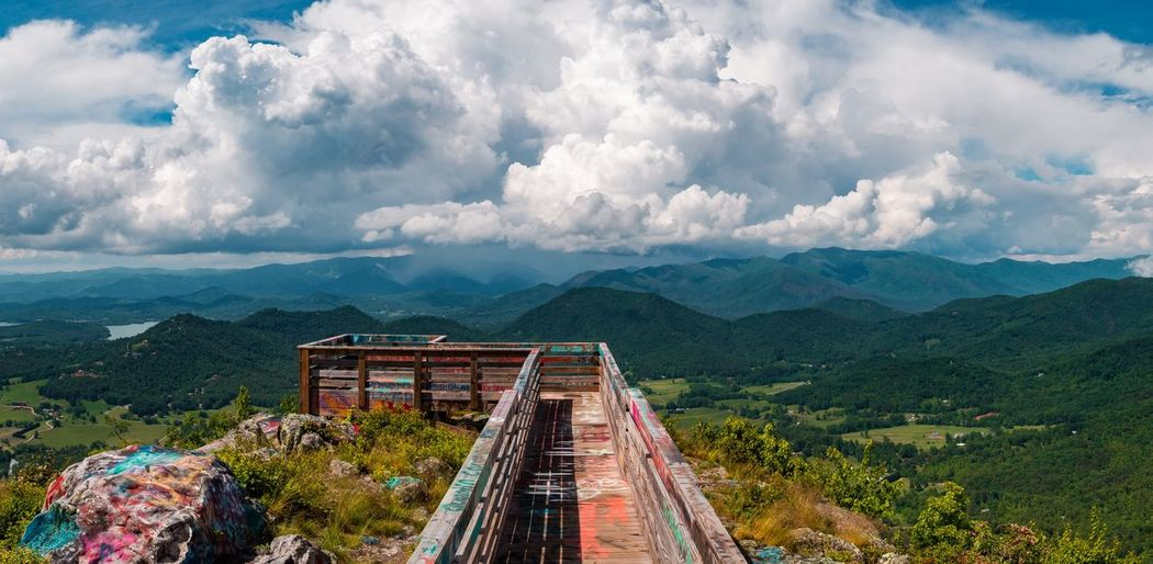 Six shot panorama from Bell Mountain in Hiawassee Georgia. Clouds Lookout Tower Scenic View EyeEmNewHere EyeEm Selects Cloud - Sky Mountain Sky Beauty In Nature Nature Mountain Range