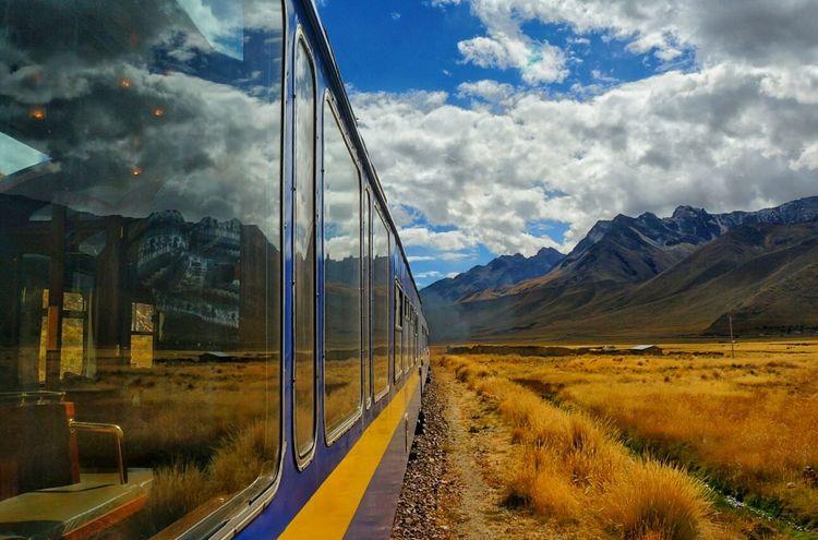Peru Peru Rail Train Reflection Landscape Travel Travelling South America