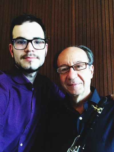 With Luis Rossi Klarinette