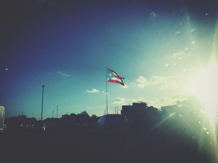 Color Portrait EyemPuertoRico Good Morning! Sunrise On My Way To Work In Style Flag Of Puerto Rico