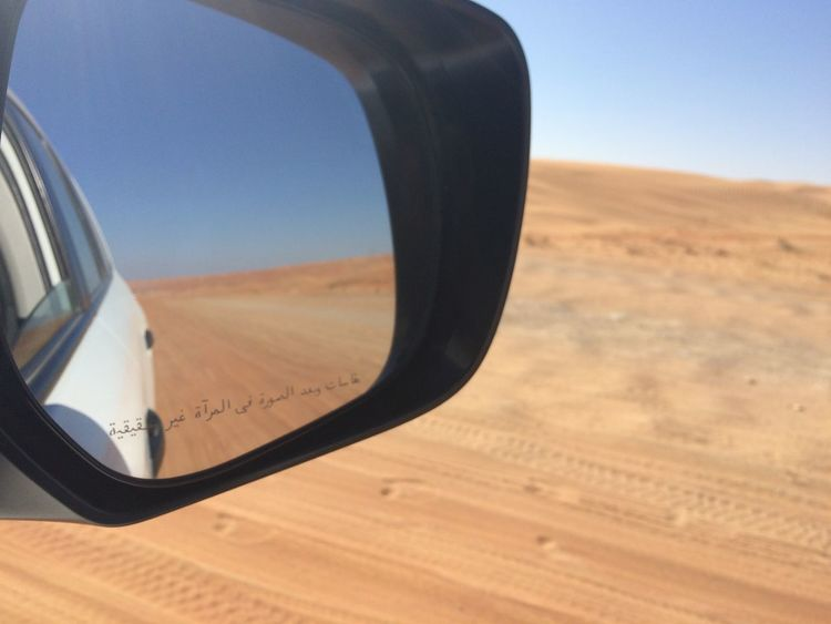 Camels Day Desert Desert Off-Road Outdoors Rear View Mirror Road Trip Sand Dune Sand Dunes Sky