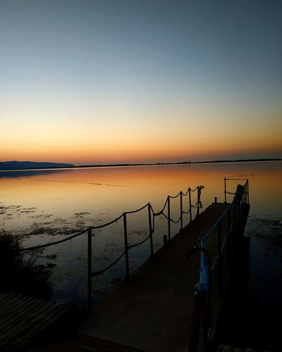 Sunset Sunset_collection Jetty Dock Wharf Italy Coast Lagoon View Colorful Shades Panorama Tuscany Reflection Shadow Shadows & Lights Point Of View Photographer Photography Photo Streetphotography Sun Orbetello Stunning Mirrored Clear Sky Sea Sky Infinity Romantic Sky
