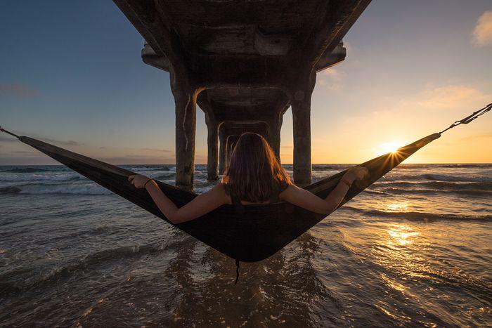 Hanging around. California Manhattan Beach Pier