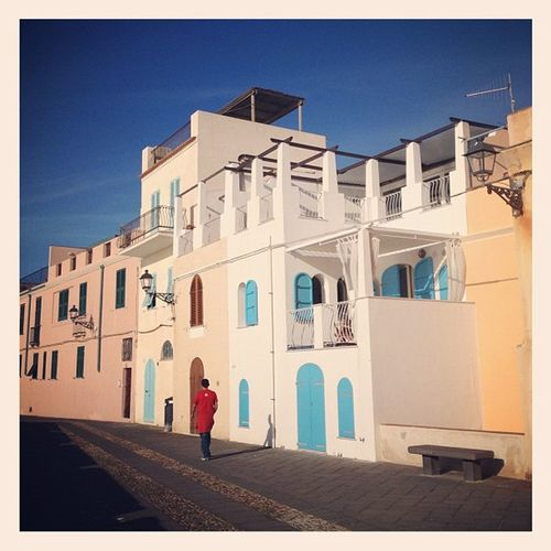 Last look at my favourite little blue house by the Bastioni in #Alghero #sigh #holidaysover Alghero Sigh Holidaysover