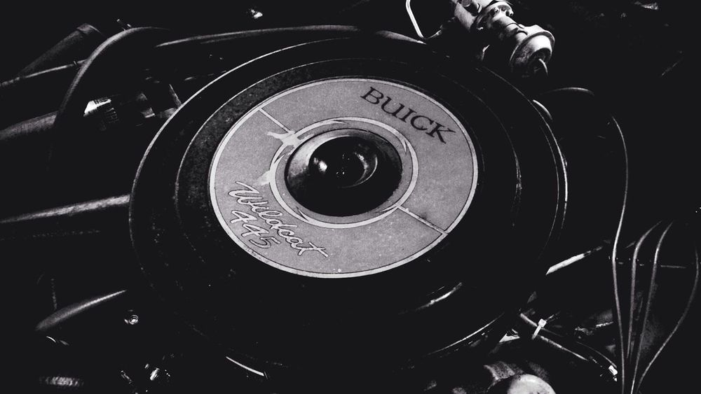 "My Brother-in-Law is a ""Raggare"" this is the engine of his pride and joy a Buick Electra 401 Nailhead. One Photo A Day 2014 Day 6. MADE IN SWEDEN MPhotographers Minimalism"