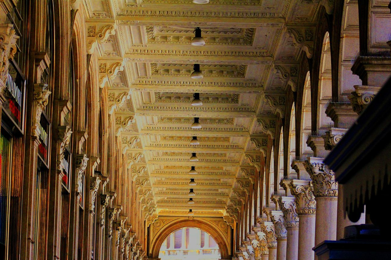 architecture, history, built structure, arch, travel destinations, indoors, architectural column, tourism, low angle view, travel, no people, day